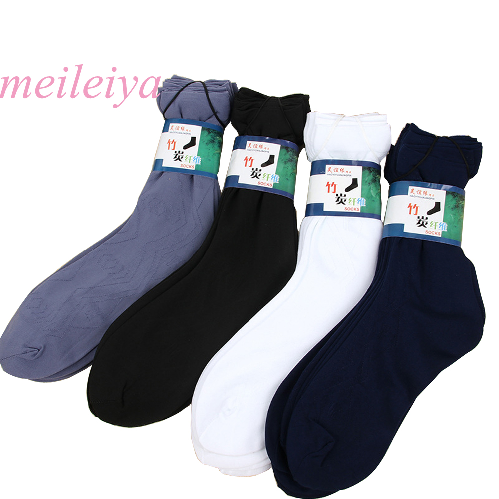 MEILEIYA 10 Pairs/Bag New Hot Summer Thin Section Socks Solid Color With The Tube Men Socks Business Men Short Rayon Socks