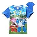 Crianças roupas de verão nova máquina ROBOCAE Nemo crianças pequenas algodão impressão T-shirt de manga curta 2017