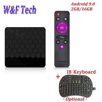 Newest Android 9.0 Smart TV BOX 2GB 16GB Rockchip RK3328 Quad Core 2.4G WIFI 4K H.265 Media Player S9 PRO Android TV BOX