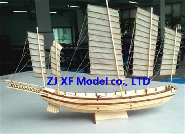 NIDALE model Free shipping Scale 1/80 Chinese ancient sailboat model kits Song Dynasty Large Junk ship model