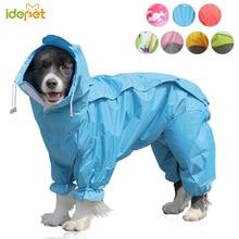 Large Dog Clothes Raincoat for Dog Waterproof Rain Cape for Pet Clothing Golden Big Pet