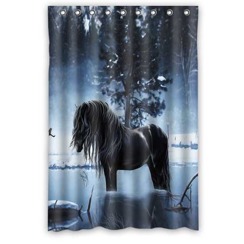 Custom Fashion Popular Bath Curtain Lonely horse Shower Curtains 48 quot  x 72 quot  Inches Bathroom. Popular Horse Bathroom Decor Buy Cheap Horse Bathroom Decor lots