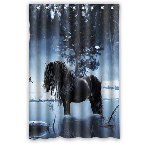Delightful Custom Fashion Popular Bath Curtain Lonely Horse Shower Curtains 48u0026quot; X  72u0026quot; Inches Bathroom
