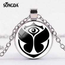 SONGDA Tomorrowland Music Festival Jewelry TomorrowLand Logo Necklace Glass Photo Cabochon Chains Necklace Gifts for EDM Lovers(China)