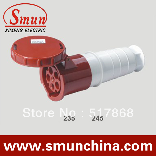 ФОТО 125A 220-415V 3P+N+E industrial coupler 5pins female connector with CE ROHS 1 year warranty