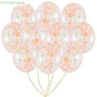 100pcs 12inch 30cm Clear Confetti Balloon Latex Confetti Balloon Wedding Decoration Happy Birthday Balloons Party Supplies