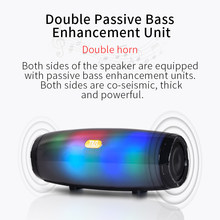 LED Portable Wireless Bluetooth Speaker Stereo loudSpeakers 5.0 Portable Column Subwoofer Mini Computer Speaker(China)