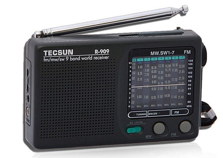 Unterhaltungselektronik Trendmarkierung Freies Verschiffen Tecsun R-909 Am/fm/sw1-7 9 Bands Kurzwellenradio Tragbare Radio Radio