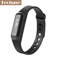 Techase Bluetooth фитнес-трекер miband спортивной деятельности трекер браслеты браслет шагомер сенсорный экран Pulseira inteligente