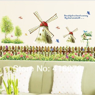 Free Shipping New Design Spring Theme High Quality Rural Windmill