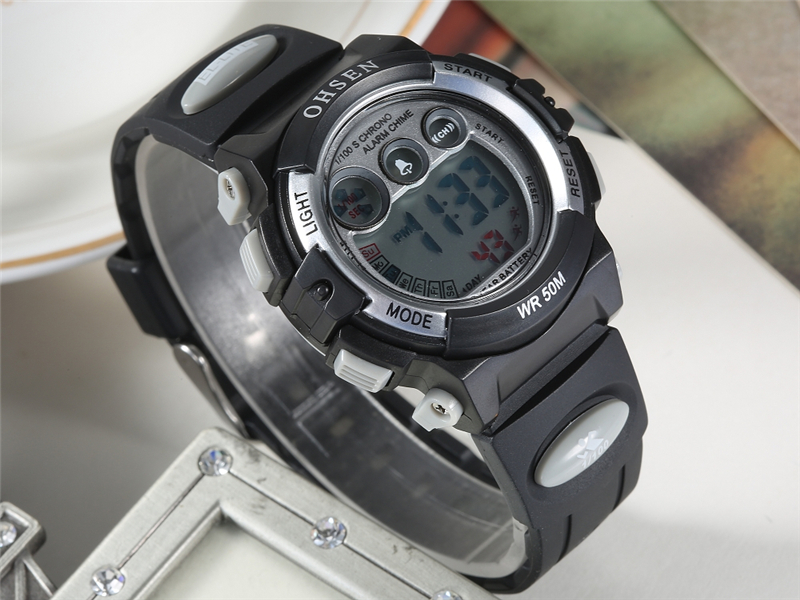 OHSEN Fashion Children Sports Watches Waterproof 5ATM Kids LED Digital Watch Student Outdoor Hand Electronic Clock Montre Femme (22)