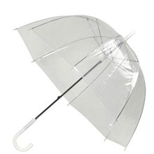 Arch Umbrella Apollo Transparent Princess Weeding Decoration Against Wind And Rain Long-Handle  Clear Field Of Vision