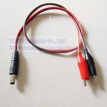 NCHTEK DC мощность 5,5x2,1 мм со штекерной розеткой, двойной тестовый зажим в форме аллигатора свинцовый адаптер CCTV кабель, 5,5/2,1, 10 шт