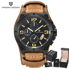 2016 PAGANI Design Luxury Brand Unique Fashion Watches Dive Men 100 M Military Sport Leather Quartz Watch relogio masculino