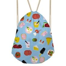 Women's Emoji Printing Backpack ladies Small Pouch Drawstring Bag Girls Chirldren's Cute SchoolBag Coulisse Borsa