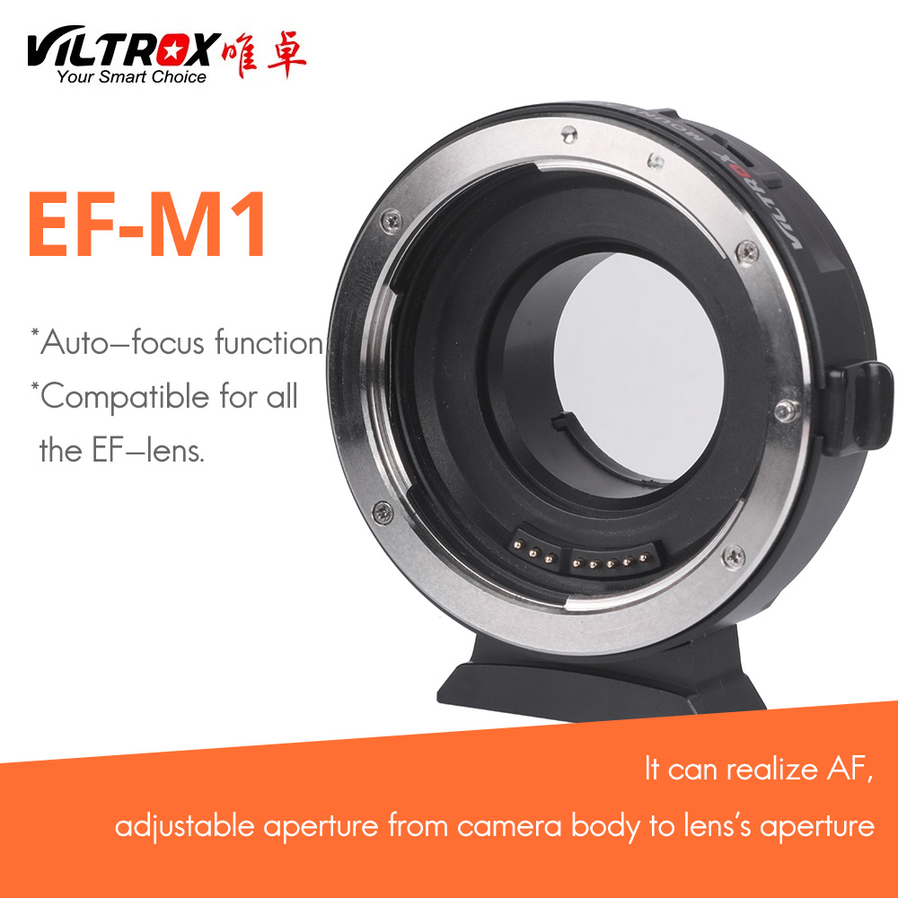цены viltrox EF-M1 for Canon EF lens transferto Lumix Olympus M4/3 system camera AF auto-focus adapter ring filmware upgraded via usb