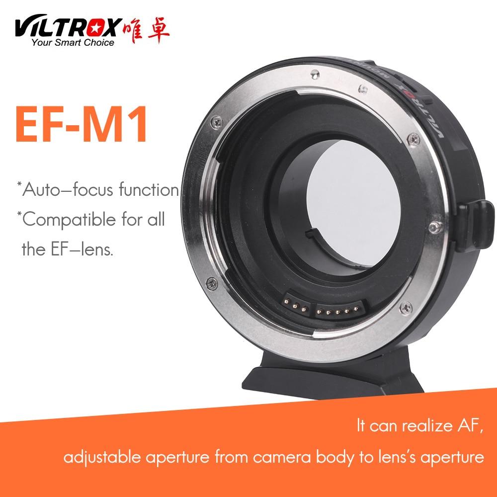 viltrox EF-M1 for Canon EF lens transferto Lumix Olympus M4/3 system camera AF auto-focus adapter ring filmware upgraded via usb commlite cm ef mft electronic aperture control lens adapter for ef ef s lens m4 3 camera