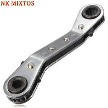 NK 1PCS 6mm 8mm 10mm 12mm 13mm 17mm 21mm Ratchet Spanner Combination Wrench Keys Ratchet Skate Tool Gear Ring Wrench Ratchet