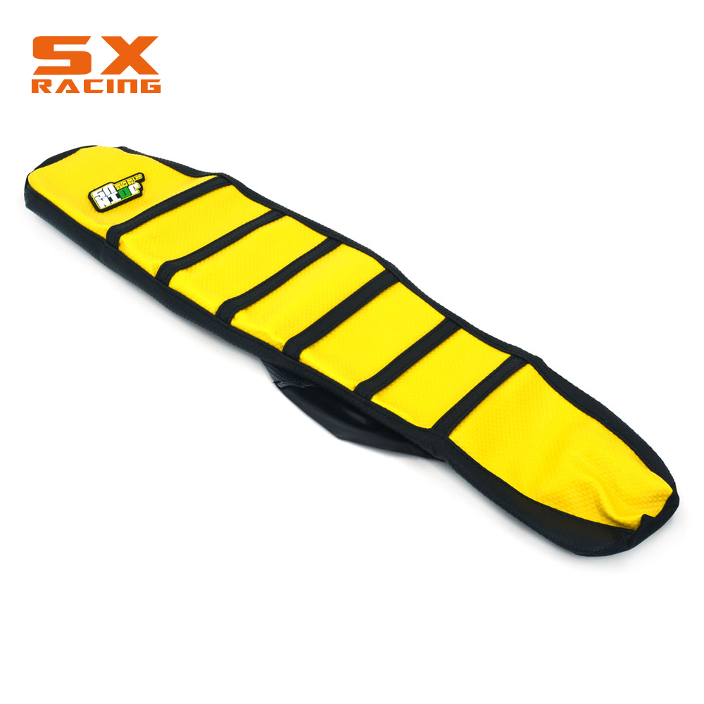 Motorcycle Rubber Gripper Soft Seat Cover For SUZUKI RM125 RM250 1996 1997 1998 1999 2000 Motocross Dirt Bike