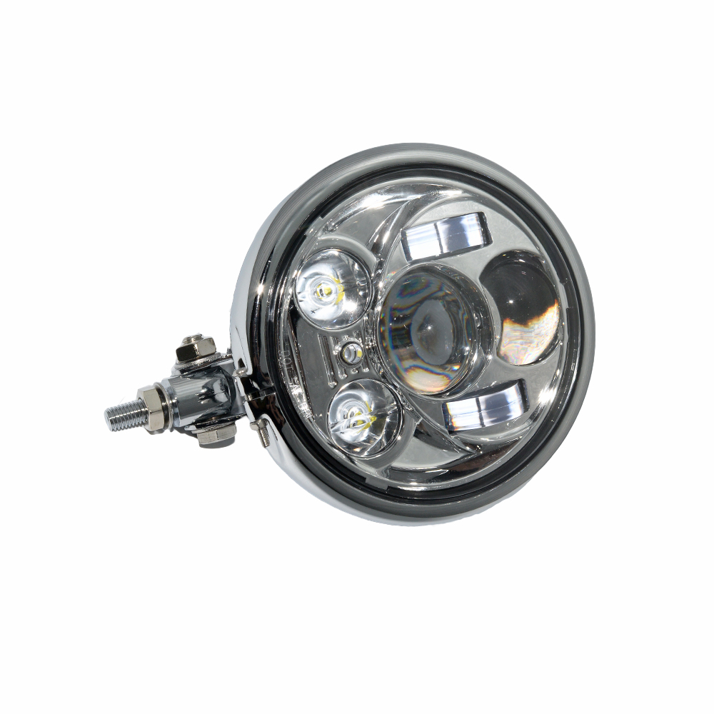 6.5 LED Motorcycle Headlight Buttom Mount High/Low Beam Headlamp Driving Light Projector HID for Harley Sportster Customs BMW