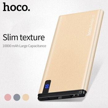 Banco de Energía Universal HOCO 10000 mAh USB Ultra delgado 10mm Li-polímero carga rápida móvil cargador de batería portátil pantalla Digital