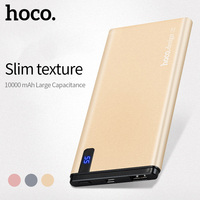 HOCO 10000mAh Universal Power Bank USB Ultra Slim 10mm Li Polymer Fast Charging Mobile Portable Battery Charger Digital Display