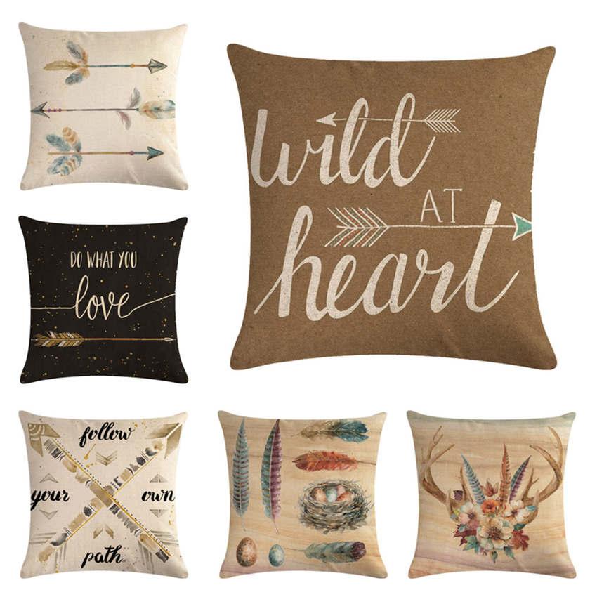 Home Textile New Fashion 2018 Fashion Home Decor Cushion Cover Graffi Style Throw Pillowcase Pillow Covers Hot Sale Consumers First