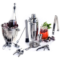 Stainless Steel 10PCS Copper Plated Cocktail Shaker Mixer Drink Bartender browserKit Bars Set Tool