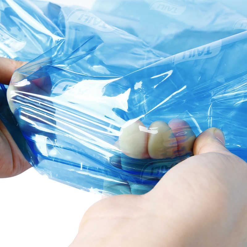 4 sztuk niebieski torebki próżniowe na ubrania szafa organizer odzieży 45*70CM mały woreczek hermetyczny plastikowy, pojemny oszczędność worek kompesyjny