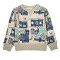 Outono Inverno Meninos Bonitos Do Bebê Menina Manga Longa de Alta Qualidade camisas de algodão T Crianças T-shirt Dos Miúdos Roupas Infantis idade a partir de 3-9 T