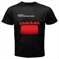 Limited Interpol Band Turn On Bright Lights Album Tour Black T Shirt Size S 5XL
