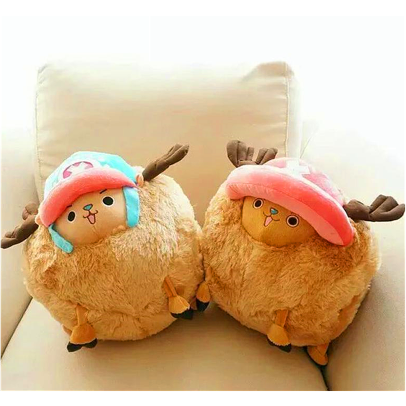 35CM One Piece Anime Stuffed Plush Toy Dolls Tony Chopper Toys For Children High Quality Cartoon Birthday Christmas Kids Gift
