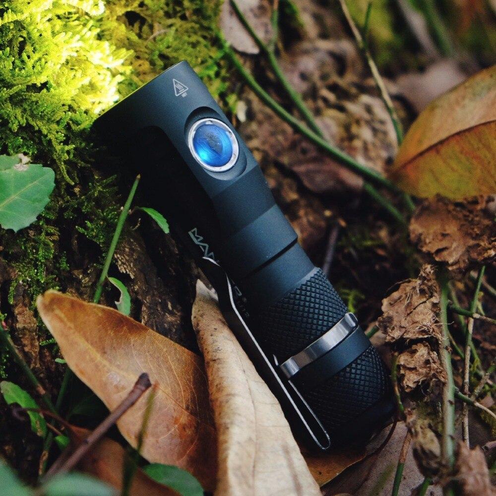 Manker U12 2000 Lumens CREE XHP50 II A MENÉ LA Lampe-Torche Avec Le Câble USB De Type C, 20700 Batterie Rechargeable, clip de poche, Étui