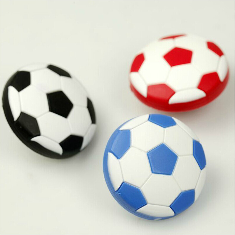 1x Soft Rubber Sports Drawer Pulls soccer football furniture handles drawer pulls kids bedroom dresser knobs