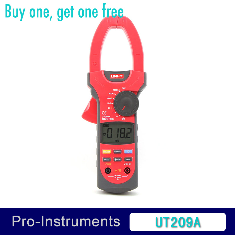 UNI-T UT209A True RMS Digital Clamp on Meter Multifunction Auto Range Multimeter ACDC Voltage Current TEMPERATURE Tester DMM