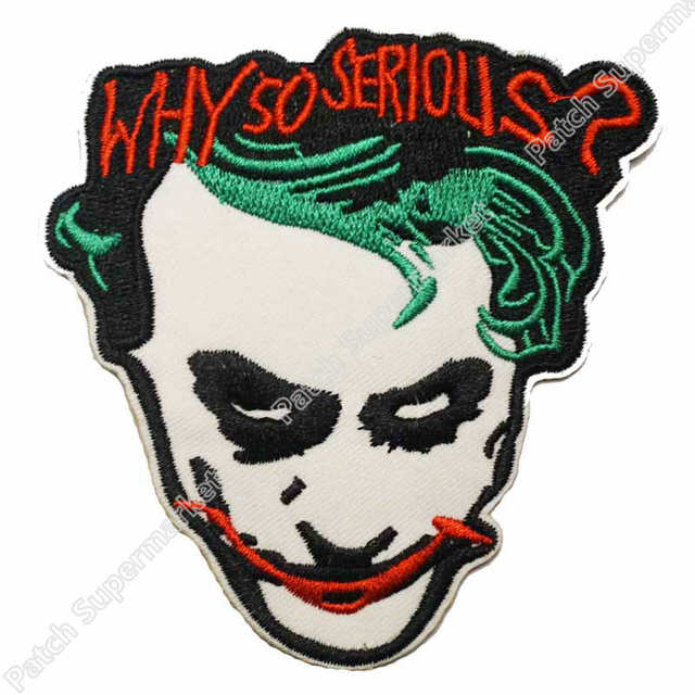 35 Why So Serious Joker Face Uniform Logo Batman Animated Series Costume Embroidered Hot Rod Punk Motorcycle Jacket Vest Biker