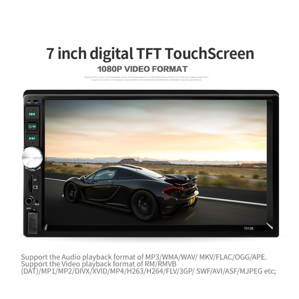Car DVD Radio Multimedia Audio Player Bluetooth Display Touch Screen MP5 Player Hands Free FM Transmitter 7012 (NO DVD) new lq065t5gg64 lcd display with touch screen panel monitor for mitsubishi dvd audio for jeep chrysler dodge mygig car radio