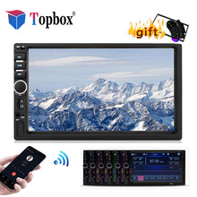 Topbox 2 din car radio Bluetooth Autoradio Mirrorlink 7 HD MP5 Multimedia Player Touch Screen FM