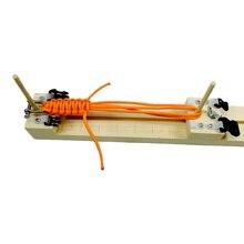 YOUGLE DIY джиг твердой древесины Паракорд Браслет Производитель Ткачество Ремесло Инструменты