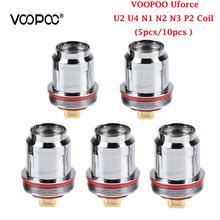 5 sztuk 10 sztuk opakowanie VOOPOO Uforce U2 U4 N1 N2 N3 P2 wymiana cewki dla Voopoo Uforce zbiornika voopoo przeciągnij 2 zestaw Voopoo przeciągnij mini zestaw tanie tanio VOOPOO Uforce Coil DS Dual VOOPOO Uforce Tank