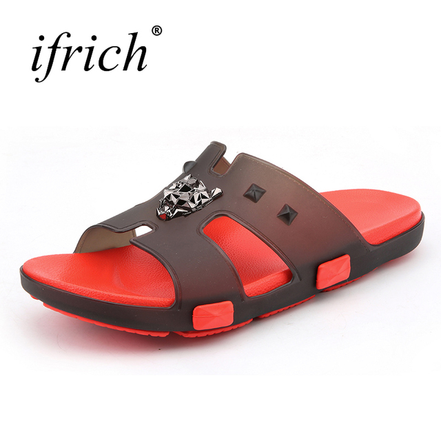 38744a1e0a2b84 Mens Slippers Men Funny Summer Flat Lightweight Shoes White Blue Mans Slippers  Indoor Comfortable Home Slippers Male