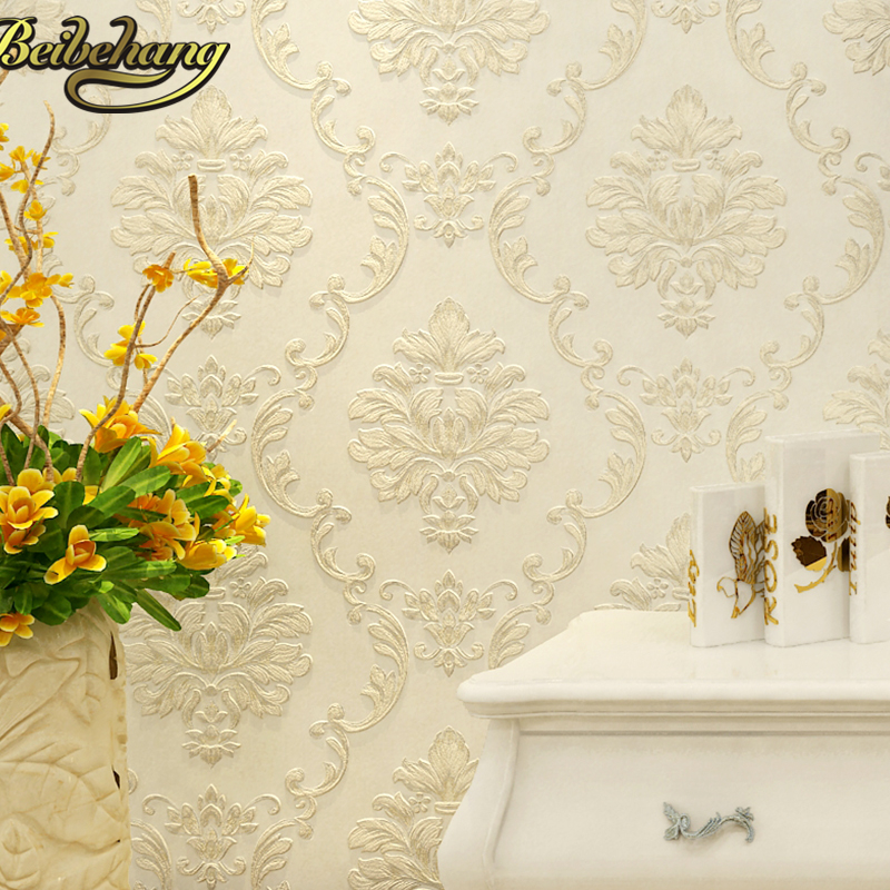 beibehang embossed bedroom wallpaper Modern damask wallpaper white wallcovering classic wall papers 3d wallpaper for living room gordon graham white papers for dummies