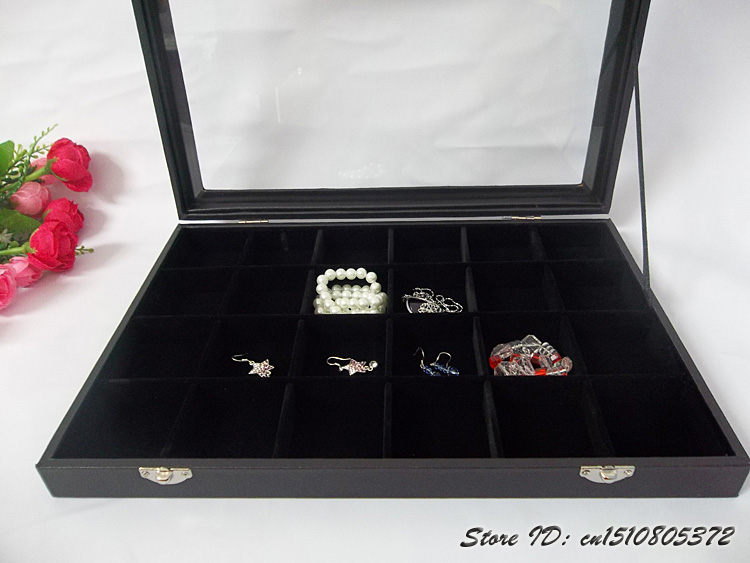 Superior Jewelry Display Tray of 24 Cells Removable Jewellry