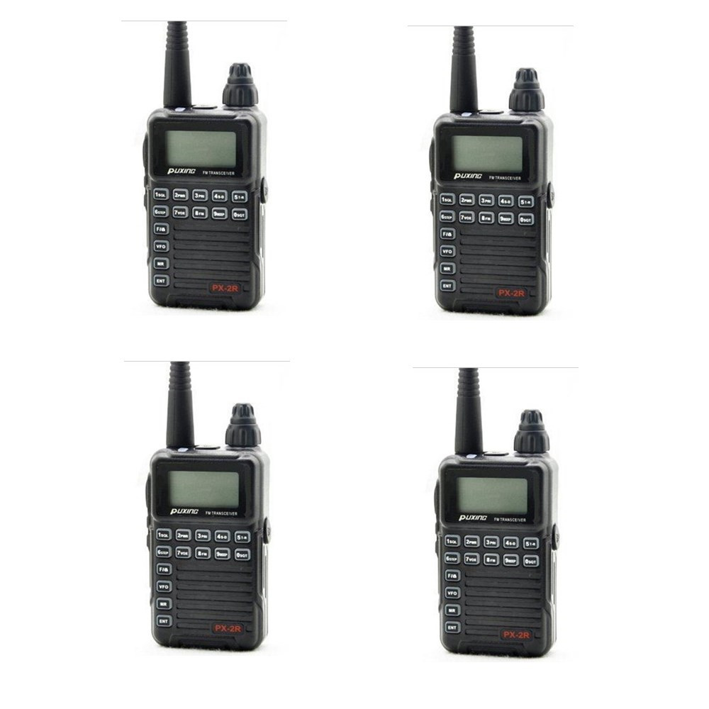 4 X Updated version Puxing PX 2R Plus Half dualband dual receive Two Way Radio FM
