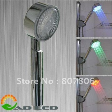 water saving led shower head with the function of massage and color changing