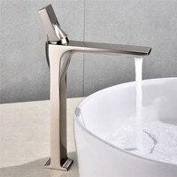 Basin Faucet Nickel Brass Retro Bathroom Sink Faucet Single Handle Swivel Spout Kitchen Deck Vessel Mixer Tap Torneira lavatorio