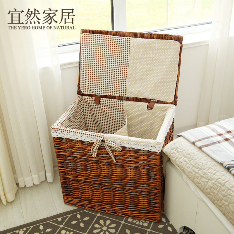 Online Shop King Ran Home Should Rattan Laundry Basket Of Clothes Covered  Clothes Holding Baskets Finishing Drawer Storage Box IKEA | Aliexpress  Mobile