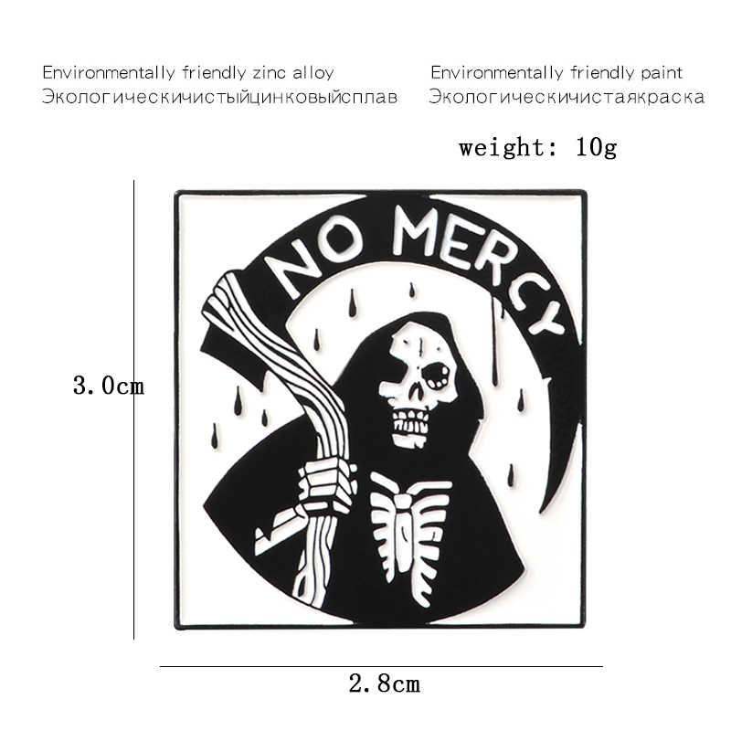 Черный Халат скелет, дьявол без милости эмалированная брошь Волшебная волшебная палочка ведьмы сцита смерти адского готического значка для рубашки булавка Панк ювелирные изделия