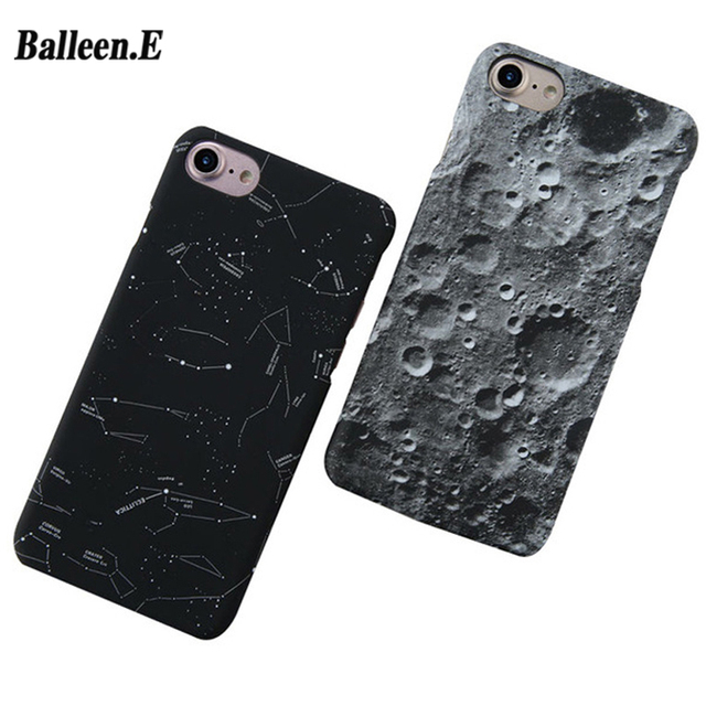 Balleen.E Phone Cases For iPhone 8 7 6 6s Plus 5 5s SE Luxury Moon Starry Sky Space Star Hard PC Cover Case Fundas Capa Coque