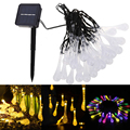 Solar 30LEDs Water Drop String Light Waterproof fairy Garden christmas lights outdoor solar led light Tree Decorative